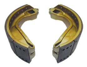 reline aluminum brake shoes