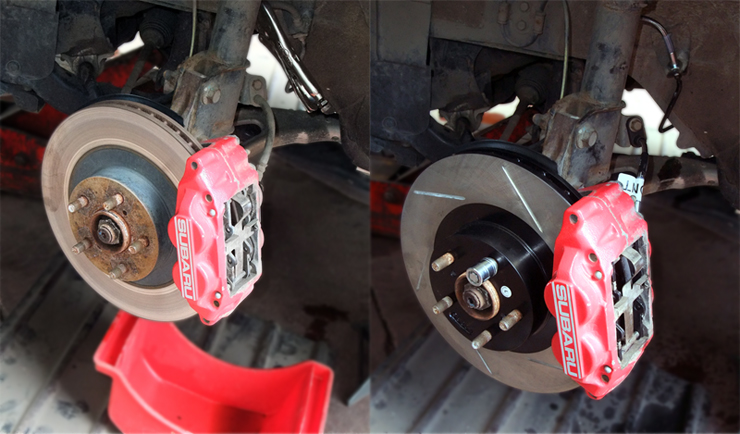Slotted Brake Rotor Conversion
